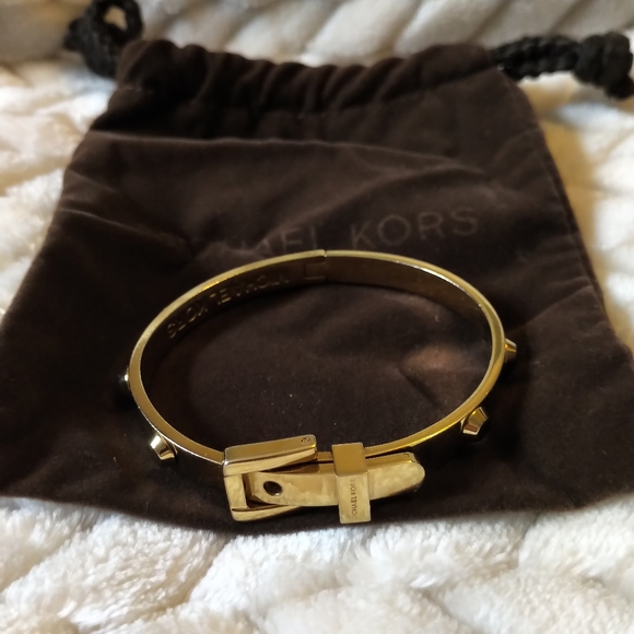 Michael Kors Jewelry - Michael Kors gold belt buckle bracelet.